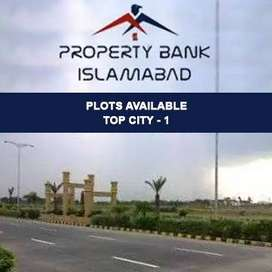 Residential Plot available for sale in top city/ Islamabad.