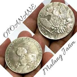 Koin antik Luar Negeri silver Tahun 1755 MOHLTA stok cuma 1