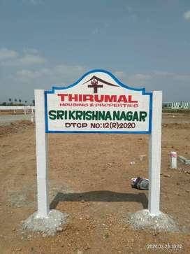 Rs.995/- per Sq.Ft. Buy a Plots @ Navalur, Manimangalam(80% Loan)