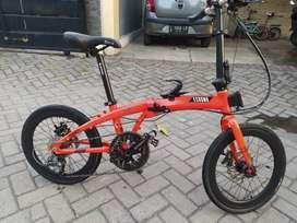 Sepeda lipat Ecosmo 8 full upgrade