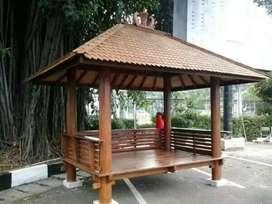 Saung gazebo kayu kelapa