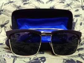 Black Framed Sunglasses With Case