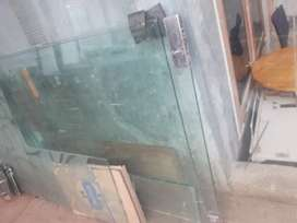 Dijual Pintu Kaca Tebal 12mm Ukuran 225 x 100 cm (  2 Unit / 1Pasang )