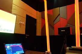 peredam suara ruang nyanyi keluarga room karaoke atau studio band
