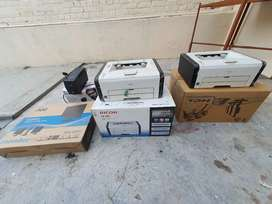 Entire P.C.  System Brand New From HCl With 3 Ricoh Printer SP 200