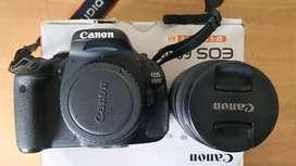 Canon 600D lengkap full set