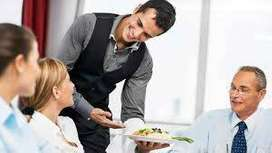 Waiter job requirement of five star hotels banquet and bar.