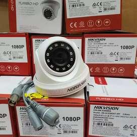 Paketan kamera cctv 2mp Hilook komplit berikut pasang