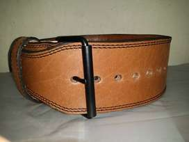 Power Weight Lifting Belt with Double Side Leather