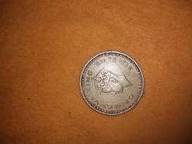One rupee coin George 6th king emperor