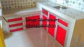 Kitchen set aluminium kaca & acp