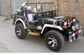 Modified open Willy jeep