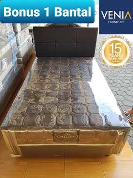FullSet Lengkap Kasur SpringBed Chelsea Divan Bed 120X200 | VENIA