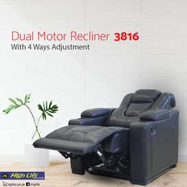 (HighLife) Motorised Home Theater Recliner with 4 way adjustment