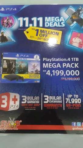 Kredit Playstation 4 1 TB Mega Pack