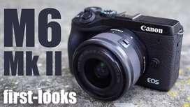 Bisa Kredit Canon EOS M6 Mark II Kit 15-45mm