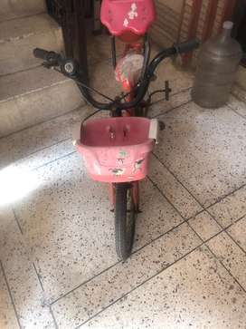 Child  cycle almost new less  in use