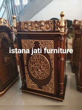 Podium Mimbar masjid ceramah masjid/mushollah