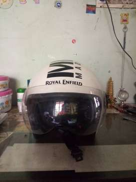 Royal Enfield white helmet XL..