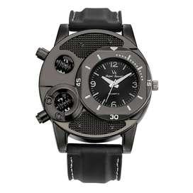 Super Speed Jam Tangan Analog Luxury Quartz - V8 - Black