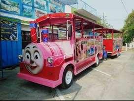 Kereta mini wisata odong mesin mobil lampu hias Murah IIW
