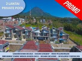 Rumah Villa Dijual Di Batu Malang Tipe 97 3 Lantai Pusat Kota Batu