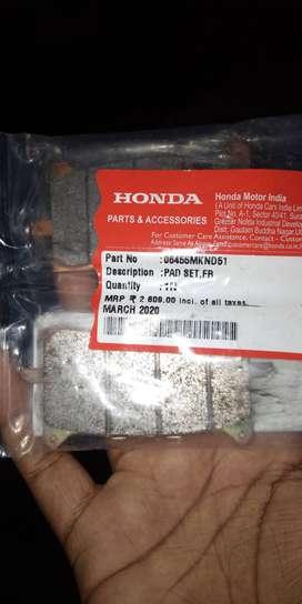 Cbr650 brake pads