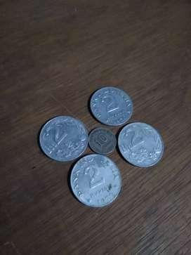 Koin kuno indonesia pecahan 2 Rp