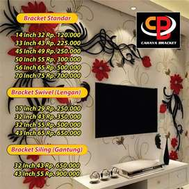 Bracket Tv LEd Lcd dan Plasma  Pluss Pasang