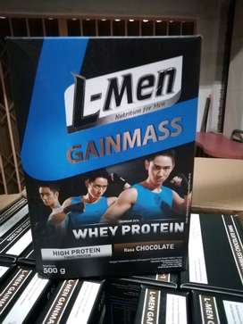 L-men Lmen 500gr gainmass whey protein chocolate