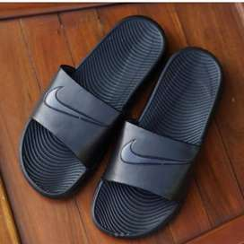 ORIGINAL Sandal Nike Bennasi Black White Hitam Putih BNWB - 42