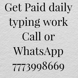 Get Paid daily typing work