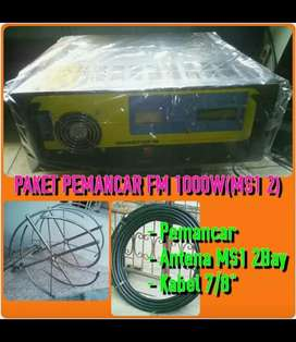 PAKET PEMANCAR FM STEREO PLL LCD 1000 WATT SOLID STATE FULL PROTECTION