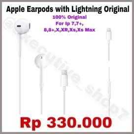 Earpods Apple Lightning APPLE ORIGINAL - Untuk Iphone 7-Xs Max