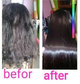 Smoothing keratin rambut pendek
