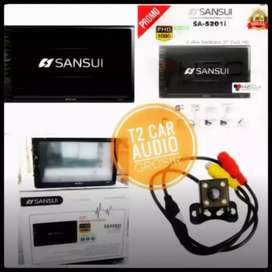 Obral canggih 2din SANSUI JAPAN android link 7inc+camera hd mantul