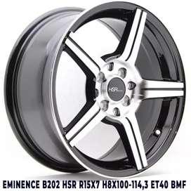 jual velg EMINENCE B202 HSR R15X7 H8X100-114,3 ET40 BMF