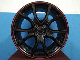velg hsr wheel ring 17x75 pcd 4x100 bis autk di jazz,brio,yaris