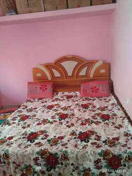 Original cotton red rose bedsheet with pillow covers