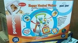 Baby Walker Pumpee Happy Musical Alat Bantu Belajar Jalan Bayi Murah