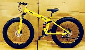 BM Fat Foldable Cycle with 21 Speed Gears: Mountain Bike 26T