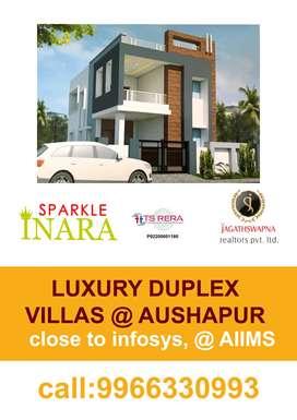 Luxury Duplex Villas @ Aushapur,near infosys, ghatkesar