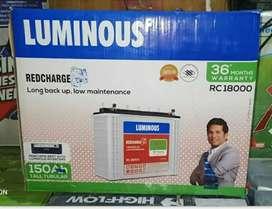 battery and inverter luminous