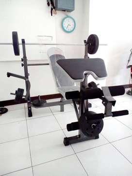 alat fitnes bench frees +stik bayar di rumah