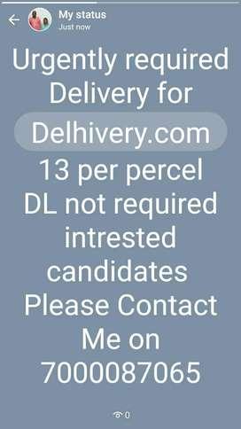 13 rs per parcel