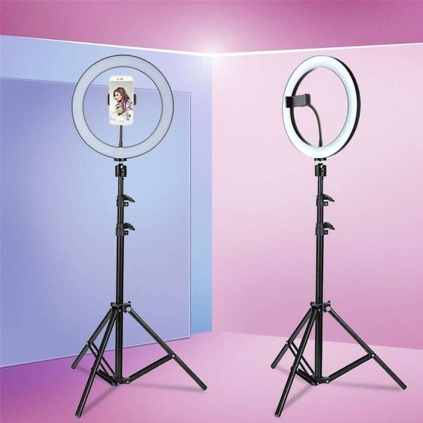 Ring Light 3 Colors with 7ft Aluminum Stand