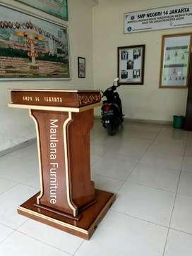 Mimbar jati podium furniture