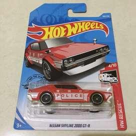 Hot wheels / hotwheels nissan skyline 2000 GT-R Police Red Kenmeri