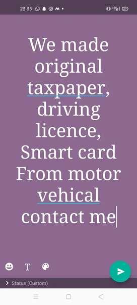 Smart card tax paper