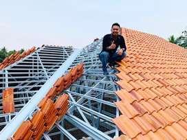 Baja ringan • Atap genteng metal/spandek + Jasa pembongkaran atap lama